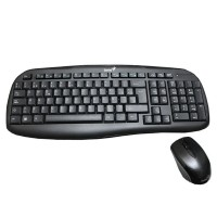 Set tastatura si mouse wireless Genius KB-8000X, USB, Negru