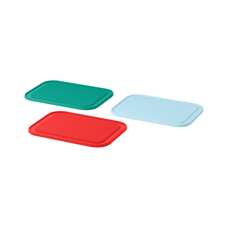 Set tocatoare plastic, 3 bucati, 22 x 16 cm, multicolor 2021 shopu.ro