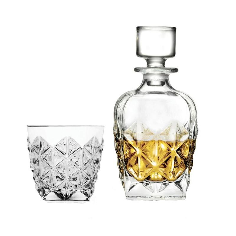 Set whisky Dof Enigma RCR, 370 ML, sticla cristalina, model diamant, 7 piese 2021 shopu.ro