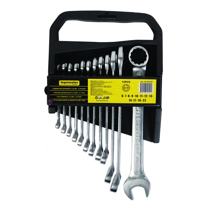 Set 12 chei combinate Top Master Pro, 6-22 mm, otel crom-vanadiu 2021 shopu.ro