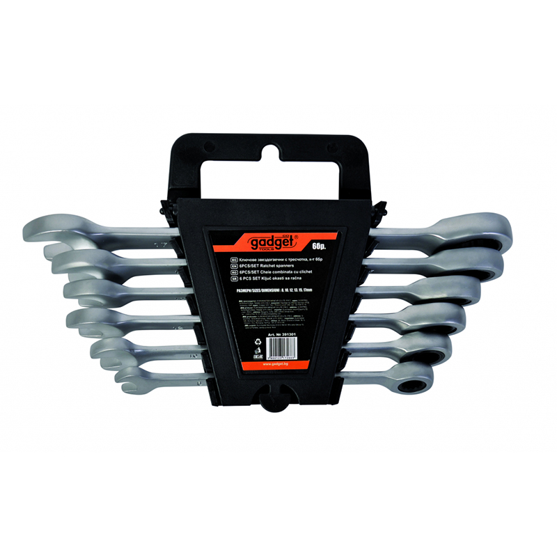 Set 6 chei combinate Cr-V Gadget, 8-17 mm, 72 dinti