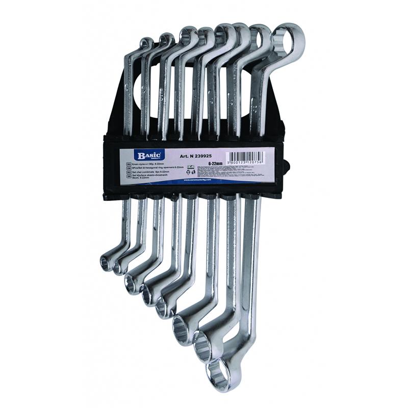 Set 8 chei inelar cotite Gadget, 6-22 mm, otel crom-vanadiu