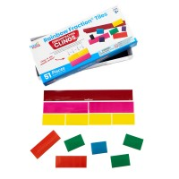 Set Invata matematica Fractii colorate Hand2Mind, 19 cm, 51 piese, 8-12 ani, Multicolor