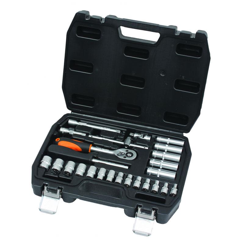 Set chei tubulare Cr-V Gadget, 1/4 inch, cutie depozitare inclusa, 26 piese
