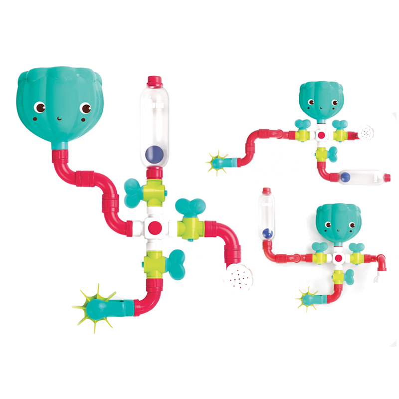 Set constructie Circuit conducte de apa Ludi, 14 piese, 13 x 13 x 9.5 cm, ABS, 18 luni+ 2021 shopu.ro