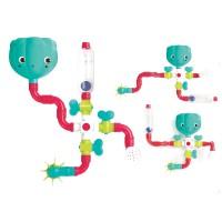 Set constructie Circuit conducte de apa Ludi, 14 piese, 13 x 13 x 9.5 cm, ABS, 18 luni+
