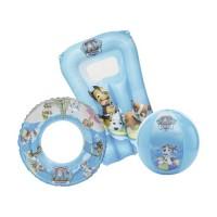 Set gonflabil pentru apa, 3 piese, 3 ani+, model Paw Patrol, Albastru