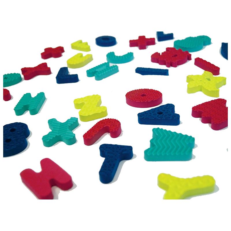 Set jucarie de baie Ludi, EVA, 78 litere si cifre, 12 x 20 x 12 cm, 0 luni+, Multicolor