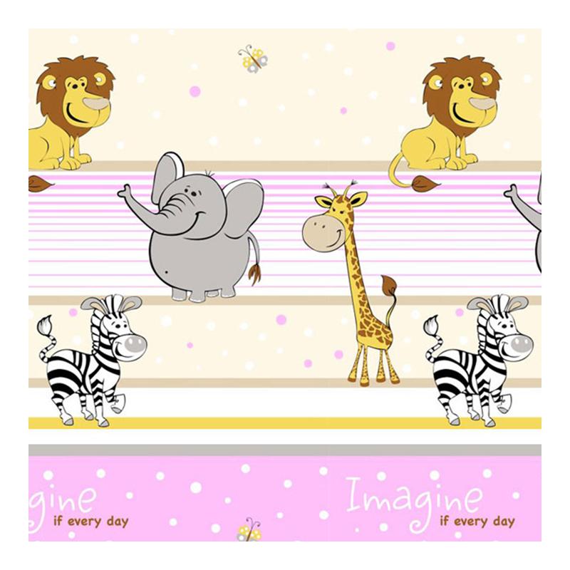 Set lenjerie Imagine Safari MyKids, 120 x 60 cm, 5 piese, bumbac/poliester, Roz