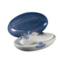 Set manichiura/pedichiura voiaj Medicura, 16 x 9 x 5.5 cm, 2 viteze, capac transparent, 5 accesorii