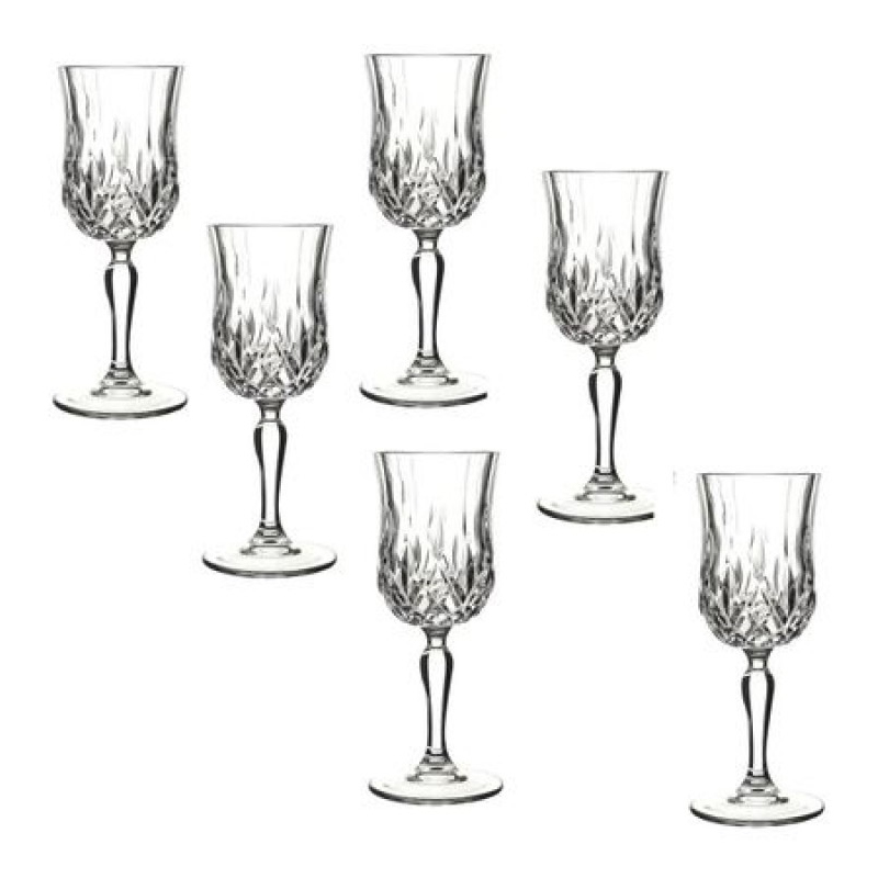 Set pahare cu picior Opera Rcr Cristal, 230 ml, sticla, 6 bucati 2021 shopu.ro