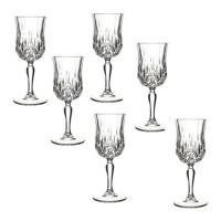 Set pahare cu picior Opera Rcr Cristal, 230 ml, sticla, 6 bucati