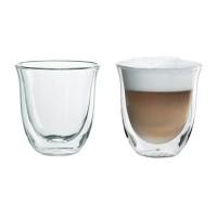 Set pahare espresso DeLonghi, 60 ml, sticla dubla termorezistenta, 2 bucati