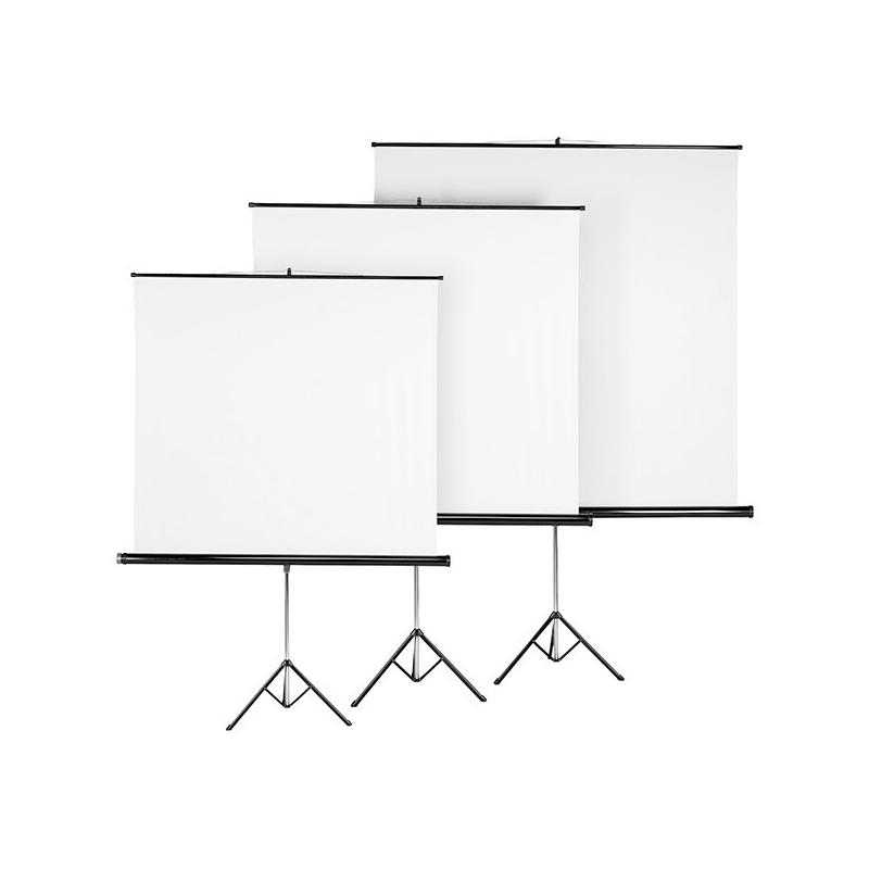 Set trepied/ecran proiectie Hama, 180 x 180 cm, PVC, Negru 2021 shopu.ro