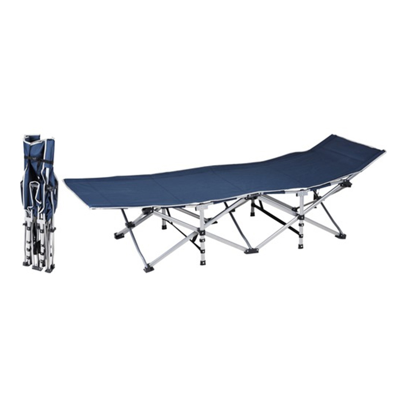 Sezlong pliabil, 189 x 70 x 37 cm, tesut textil, cadru metal, Albastru shopu.ro