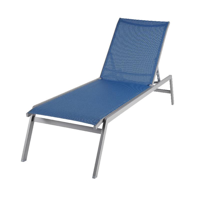 Sezlong pliabil Batz, maxim 110 kg, Albastru 2021 shopu.ro