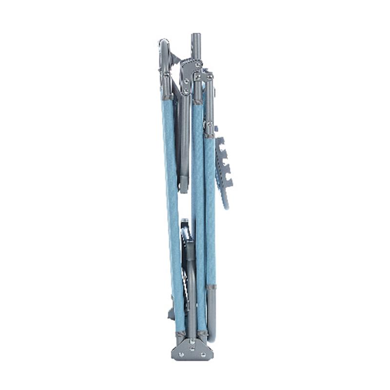 Sezlong pliabil Curacao, 186 x 56 cm, poliester, cadru otel, maxim 110 kg, Albastru