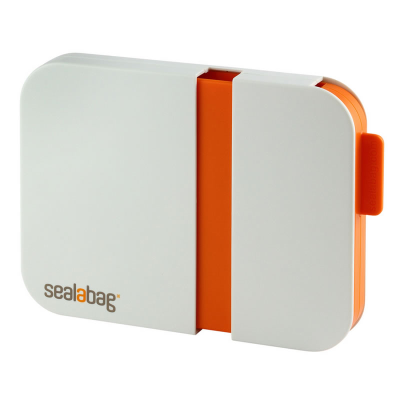 Sigilator pentru pungi Sealbag, universal, Alb/Portocaliu 2021 shopu.ro