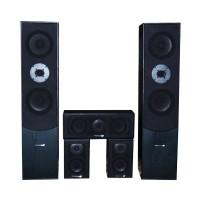 Sistem Home Cinema 5.0, 2 boxe, 2 difuzoare laterale, 1 difuzor central, negru