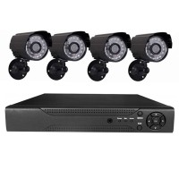 Sistem supraveghere 4 camere video CCTV, telecomanda inclusa
