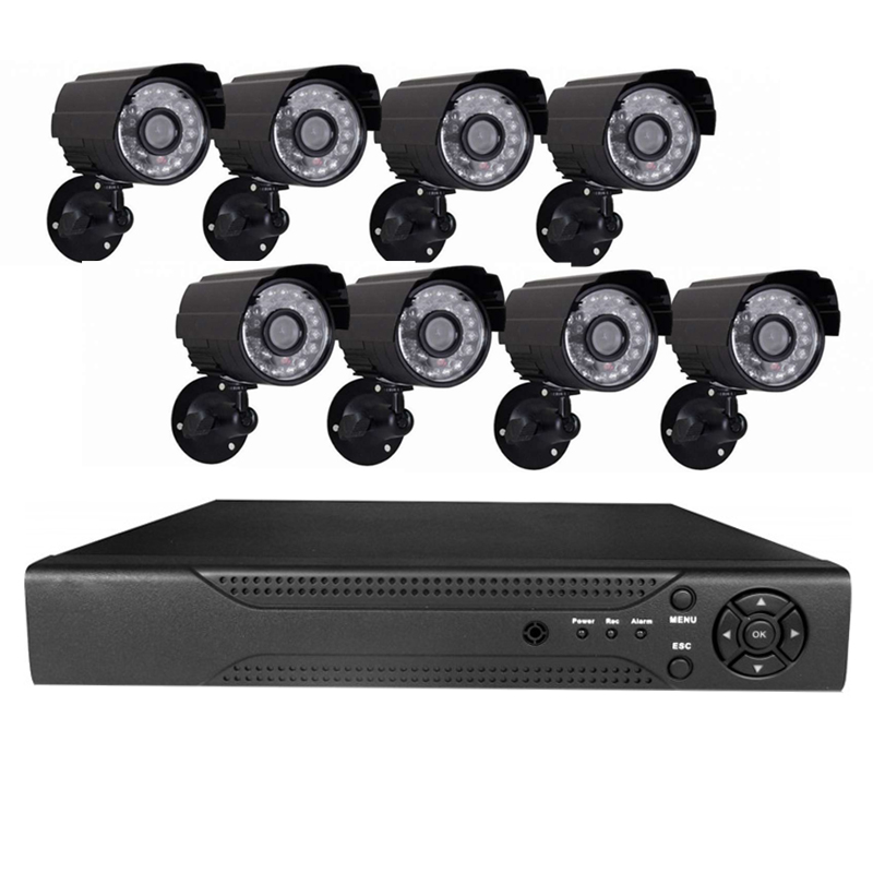 Sistem supraveghere 8 camere video CCTV, telecomanda inclusa 2021 shopu.ro