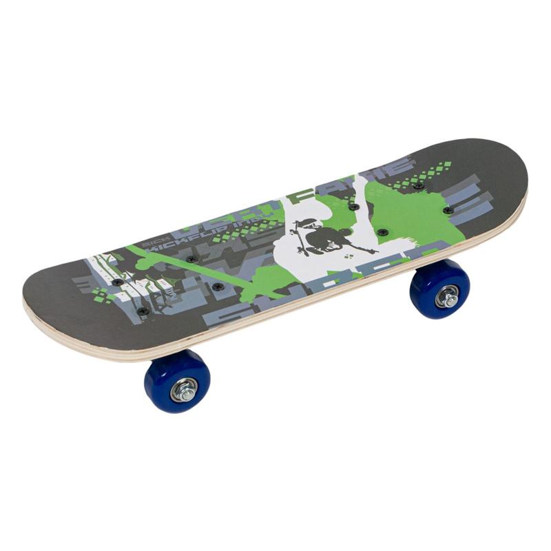 Skateboard copii Skater Design, 42 x 12.5 x 8 cm, placa lemn 2021 shopu.ro