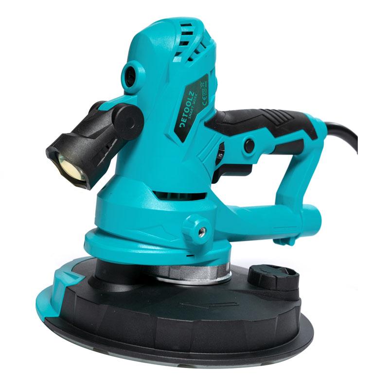 Slefuitor cu aspirator pentru pereti Detoolz, 750 W, 1600 rpm, 180 mm, LED, 6 discuri abrazive shopu.ro