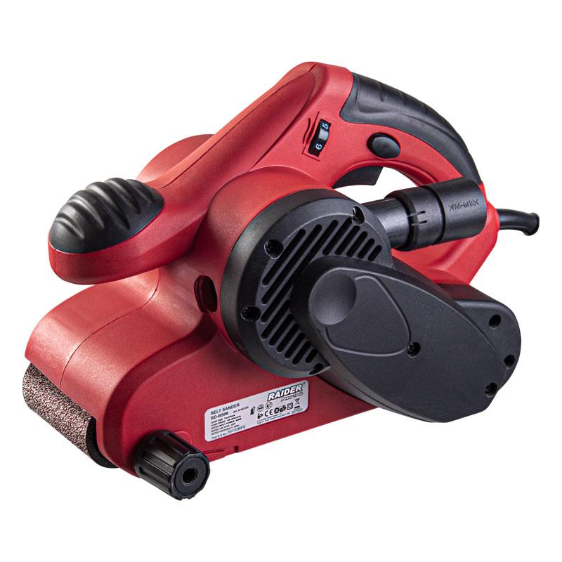 Slefuitor cu banda Raider, 950 W, 32000 rpm, viteza variabila, extractor de praf 2021 shopu.ro