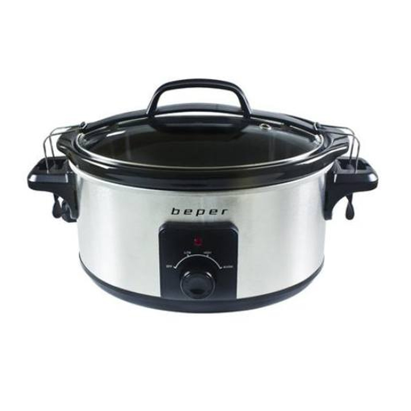 Slow Cooker Beper, 260 W, 5.5 l, recipient detasabil, capac sticla 2021 shopu.ro