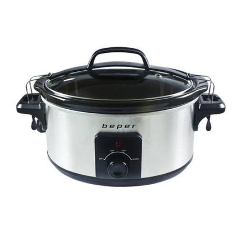 Slow Cooker Beper, 260 W, 5.5 l, recipient detasabil, capac sticla 2021 shopu.ro