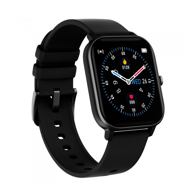 Smartwatch iHunt Watch Me Temp Pro 2021, display 1.4 inch, 170 mAh, senzor puls, Black 2021 shopu.ro