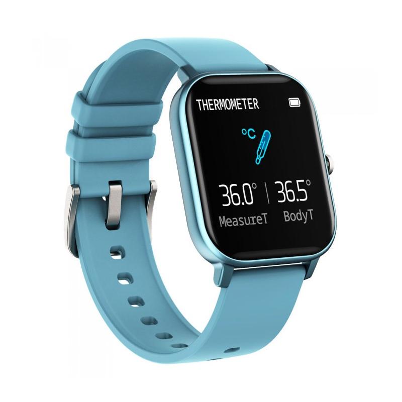 Smartwatch iHunt Watch Me Temp Pro 2021, display 1.4 inch, 170 mAh, senzor puls, Blue 2021 shopu.ro