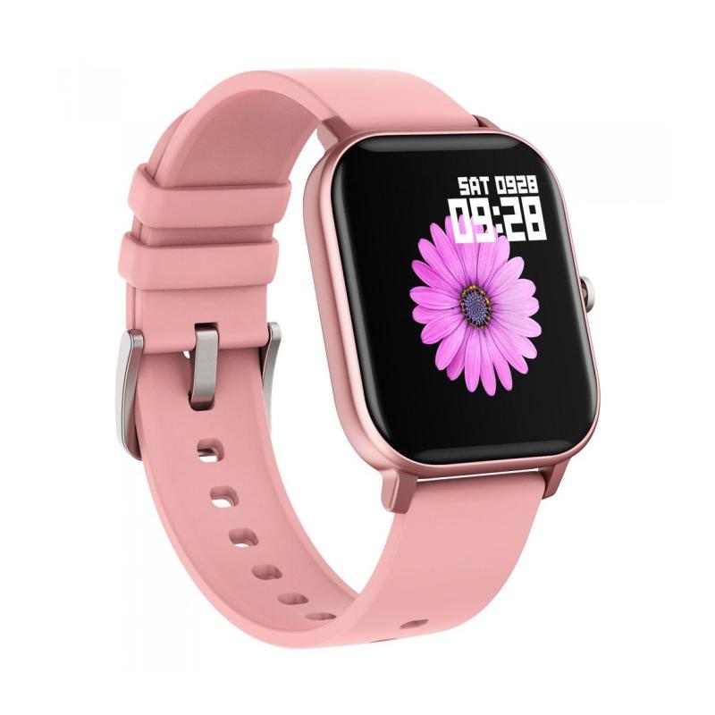 Smartwatch iHunt Watch Me Temp Pro 2021, display 1.4 inch, 170 mAh, senzor puls, Pink 2021 shopu.ro