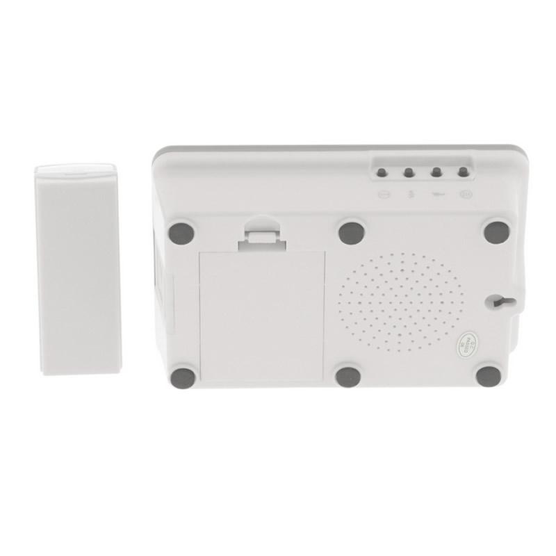 Sonerie wireless Konig, 80 dB, maxim 200 m, alb/gri