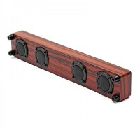 Soundbar bluetooth S406, 3 W, 10 m, 1200 mAh, microfon, imprimeu lemn