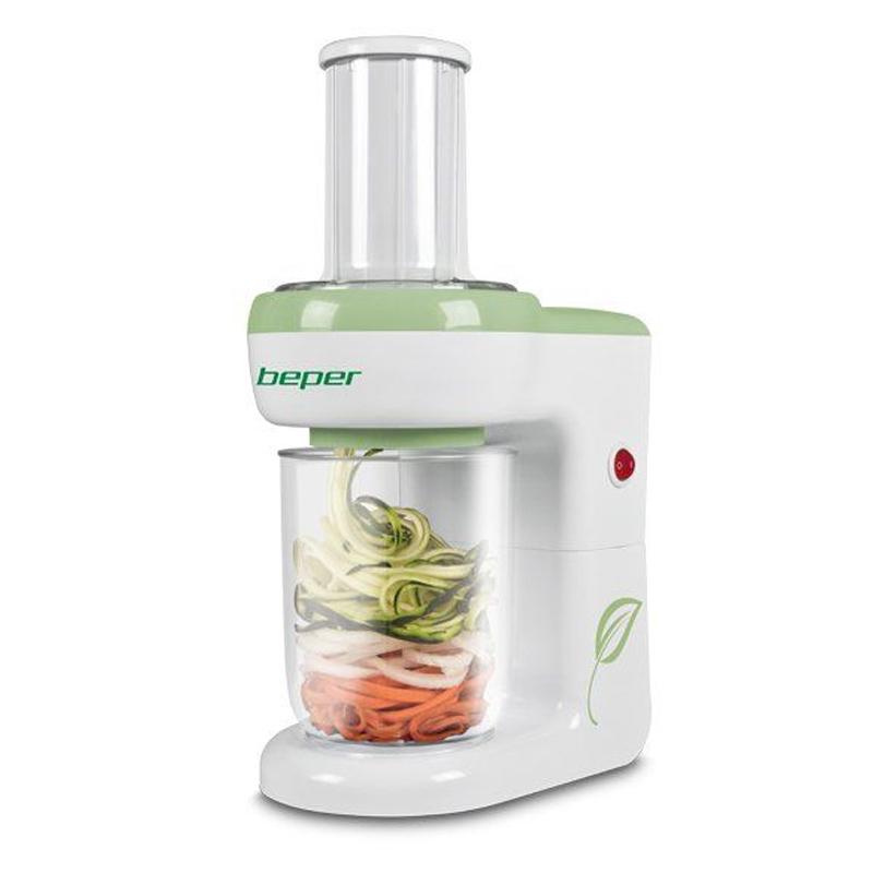 Spiralizator electric pentru legume Beper, 80 W, 1 l, lame inox 2021 shopu.ro