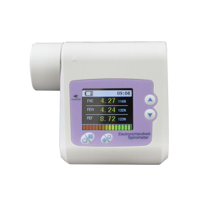 Spirometru portabil Contec, ecran LCD, debit 16 l/s, memorie interna, conexiune bluetooth 2021 shopu.ro