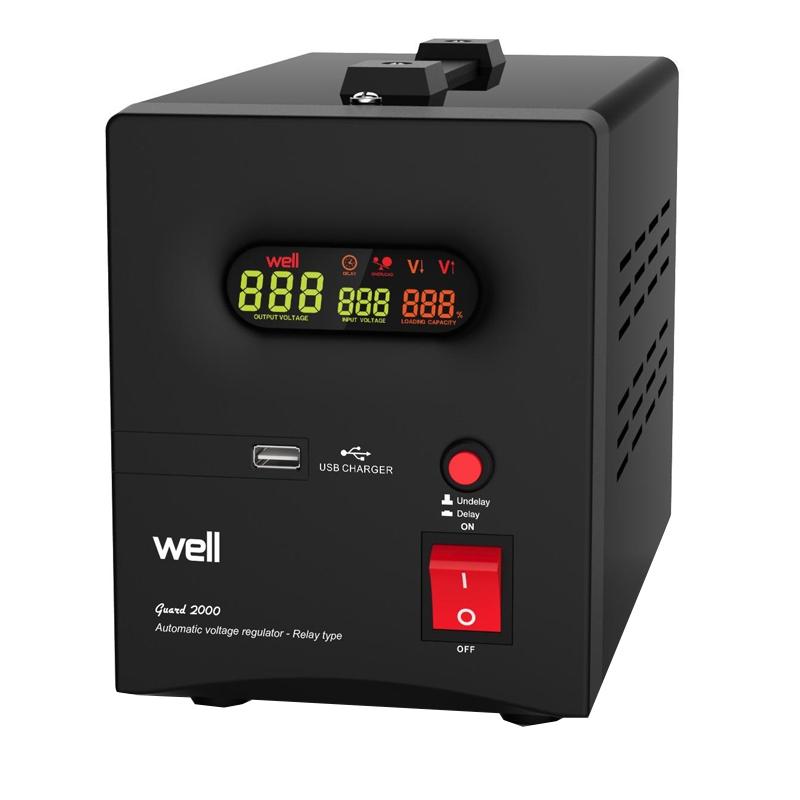 Stabilizator automat cu releu Well, 2000 VA 2021 shopu.ro
