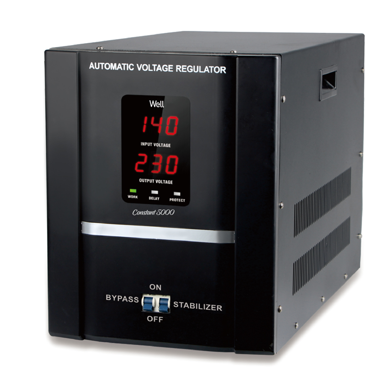 Stabilizator automat de tensiune Well, servo motor, 5000 VA shopu.ro