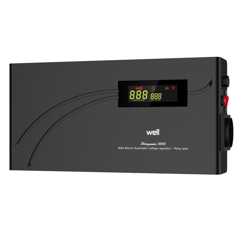 Stabilizator automat de tensiune cu releu Well, 1000VA/600W
