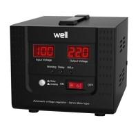 Stabilizator automat de tensiune cu servomotor Well, 500VA/300W