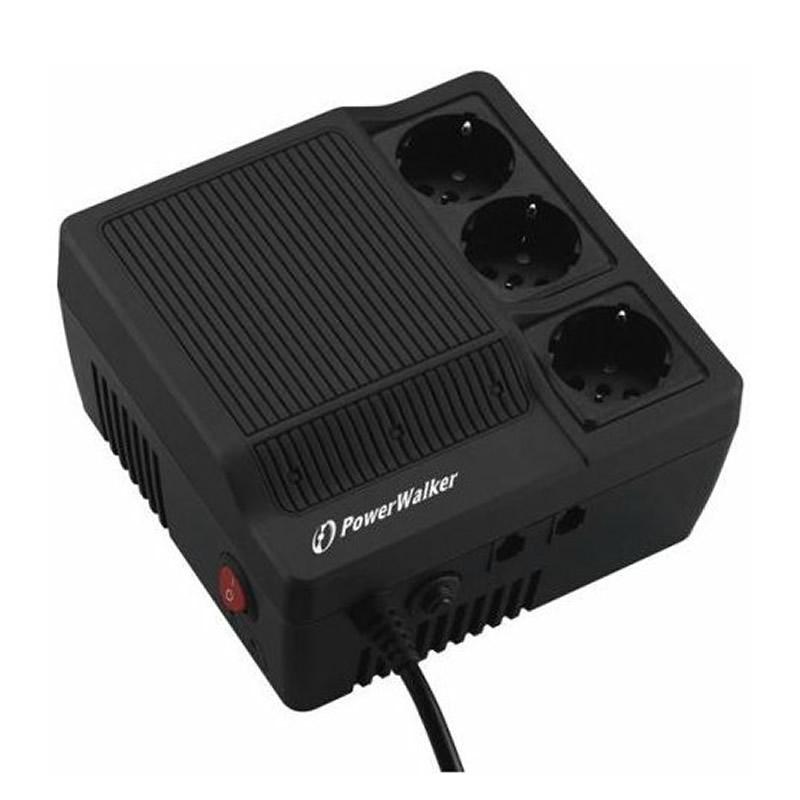 Stabilizator de tensiune Powerwalker 1200VA/720W, iesire 3 x Shuko, protectie modem, telefon shopu.ro