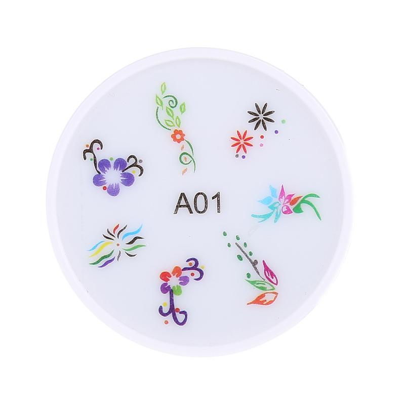 Stampila pentru unghii MMM3-A1, model floral
