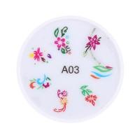 Stampila pentru unghii MMM3-A3, model floral