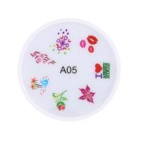 Stampila pentru unghii MMM3-A5, model floral