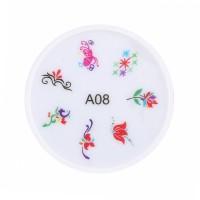 Stampila pentru unghii MMM3-A8, model floral