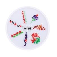Stampila pentru unghii MMM3-A9, model floral