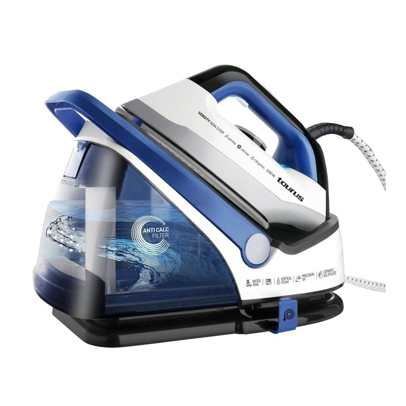 Statie de calcat Sensity Non Stop Taurus, 2200 W, 2 l, LED, 5 BAR, 120 g/min, Albastru 2021 shopu.ro