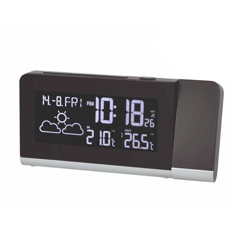 Statie meteo cu proiector Bresser MC 7007100, termometru, alarma 2021 shopu.ro