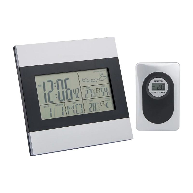 Statie meteo cu senzor, 13 x 2 x 13 cm, afisare temperatura/umiditate